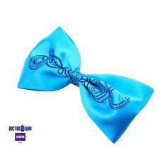 Doctor Who Gallifreyan Light Blue Hair Bow Clip Hair Ribbon BBC Licensed New