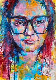 Bold color portrait, abstract realism, expressionism, BIPOC Original Artwork, Original Paintings, Color Portrait, Human Kindness, Expressionism, Bold Colors, The Originals, Abstract, Summary