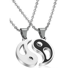 Blowin 2pcs Stainless Steel Bestfriend Yin Yang Pendant Necklace for... (3.980 CLP) ❤ liked on Polyvore featuring men's fashion, men's jewelry, men's necklaces, mens yin yang necklace and mens stainless steel necklace