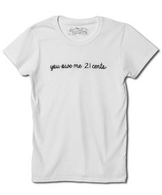 11 Chic Feminist T-Shirts to Wear Now and Forever - Wage Gap Tee from InStyle.com