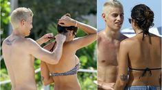 James Rodriguez and Daniela Ospina Romance in Miami Beach James Rodriguez, Sexy Wife, Beach Volleyball, He's Beautiful, Miami Beach, Real Madrid, Bikinis, Swimwear, Romance