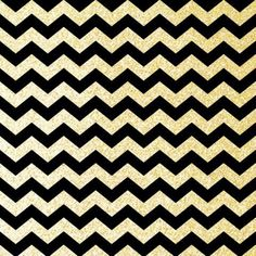 BLACK & GOLD CHEVRON Art Print