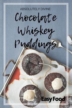 This chocolate whiskey pudding recipe is absolutely divine! Give it a try today!