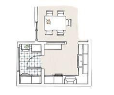 Una cocina pequeña de 8m2 con muy buenas ideas de orden y distribución Nook Architects, Made To Measure Furniture, Open Plan Living, Family Room, Sweet Home, Floor Plans, How To Plan, Living Room, Space