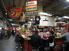 Reading Terminal Market, Philadelphia, Pat and Geno's