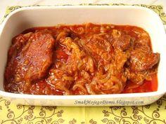 Karkówka duszona w cebuli i keczupie