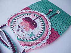 PATTERN handbag Magical flower crochet pattern purse