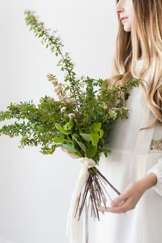 Simple branch bundles. Perhaps not for the bouquets but at the table settings | Geraldine Magazine
