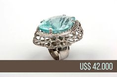 """LUXURY JEWELRY FOR SALE - FROM BRAZIL - Ring """"Noah's Ark"""" in white gold, one-piece and exclusive hand made. Central gem Aquamarine with Diamonds - U$$ 42.000,00 $ - 42 Thousand Dollars - Email: andersonweb@outlook.com"""