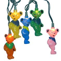 Amazon.com: Set of 10 Grateful Dead Dancing Bears Novelty Christmas Lights - Green Wire: Home Improvement