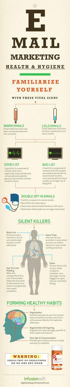 Higienização e limpeza da sua base de contatos no email marketing! E mail marketing Health and Hygiene #infografico #infographic #emailmarketing #emailmkt #emailmanager www.emailmanager.com