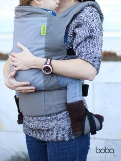 Comfort, style and closeness for miles.  Boba Carrier 4G baby carrier in Dusk, www.boba.com - perfect under our Boba Hoodie for these cool fall and winter days.