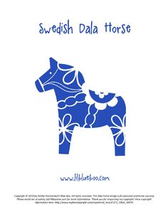Dala Horse -- Published by lilblueboo Copyright © 2010 by Ashley Hackshaw/Lil Blue Boo. All rights reserved. Swedish Style, Swedish Design, Swedish Christmas, Scandinavian Christmas, Dala Horse, Swedish Tattoo, Scandinavian Folk Art, Wooden Horse, Thinking Day