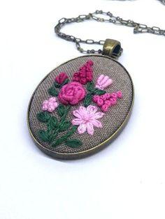 Flower Hand Embroidered Jewelr |