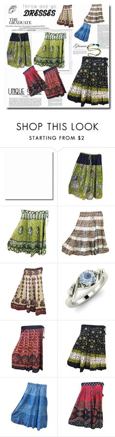 Bohemian Skirts Gyspy Fashion by tarini-tarini on Polyvore featuring Diamondere and Polaroid
