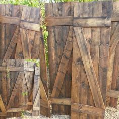 ~~ Unique Wooden Nail Z Bar RUSTIC handmade Shutter set, includes 2 interior shutters, hanging hardware INCLUDED ~~  A wonderful addition to your home