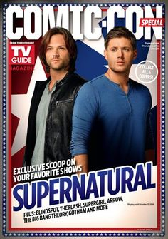 WBTV shows off TV Guide Comic Con covers with Supernatural, The Flash, Blindspot, and Supergirl.