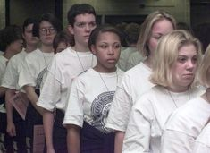 Females in-processing at Navy boot-camp
