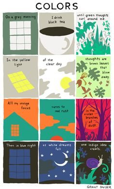 This is how colours should be spoken of. Brent Snider Illustration of Colors on the Incidental Comics page.