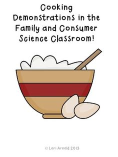 Every Family and Consumer Science teacher has probably demonstrated a lab to their students to help the understand new concepts . Students will fill out this form while you are demonstrating a lab. Science Resources, Food Science, Science Lessons, Teaching Resources, Teaching Ideas, School Resources, Activities, Science Classroom, Teaching Science