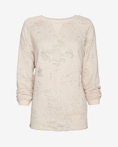 IRO Long-Sleeve Burnout Top: Beige   Shop IntermixOnline.com