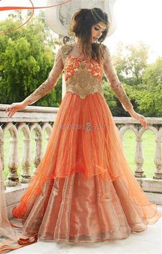 Latest collection of designer net anarkali gown suit designed with embroidery work. Indian Gown Design, Dress Indian Style, Anarkali Gown, Long Anarkali, Anarkali Suits, Designer Suits Online, Designer Dresses, Wedding Salwar Suits