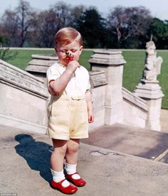 Nosing around: Everything in the garden's lovely for Andrew in 1962