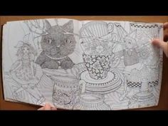 The Mysterious Library by Eunji Park Colouring Book Flipthrough - YouTube
