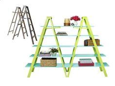 Bright Ladder Shelves - Flea Market Flips on HGTV