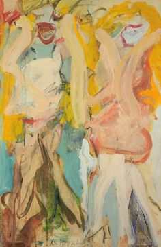 Women Singing II, De Kooning, 1966. Willem de Kooning (April 24, 1904 – March 19, 1997) was a Dutch American abstract expressionist artist. De Kooning painted in a style that came to be referred as Abstract Expressionism or Action painting.