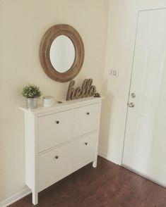 Wohnideen Flur Ikea flur einrichten deko flur weiser schrank rundem spiegel mit rahmen