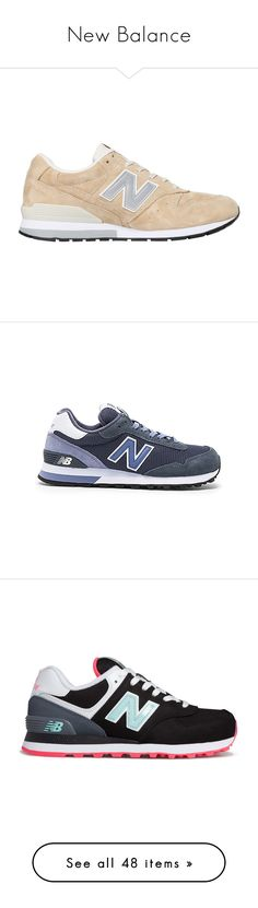 """""""New Balance"""" by whykristina ❤ liked on Polyvore featuring sport, NewBalance, shoes, sneakers, zapatillas, обувь, beige, new balance trainers, suede leather shoes and beige suede shoes"""