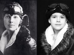 Did you hear about that Mom and Daughter that Played A Remarkable Game of Dress-Up. Here Emma poses as Amelia Earhart.