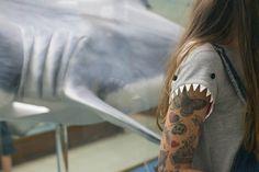 Shark T-shirt: Lazzari by. Acording to Panda