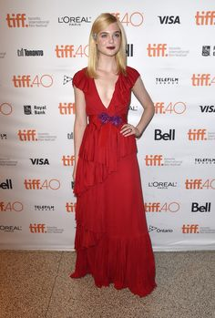 "Elle Fanning attends the ""Trumbo"" premiere during the 2015 Toronto International Film Festival on September 12, 2015"