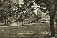 Skrzyżowanie ul. Opata Rybińskiego (Am Schlossgarten) i ul. Grunwaldzkiej (Danziger Chaussee).