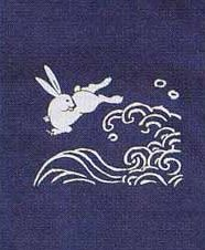 Rabbit waves on fabric