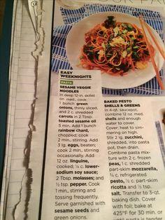 Sesame Veggie Noodles - Good Housekeeping