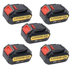 5 #Packs CREJOYTM Replacement DeWalt DCB200 DCB205-2 20V MAX XR #4000mAh Lithium Ion Battery for Dewalt Product Detials: Battery Capacity: 4000mah Battery Voltag...