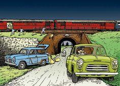 Ford Anglia/Prefect Berlina 1953 y Ford Squire 1955, en el robo del Tren postal de Glasgow