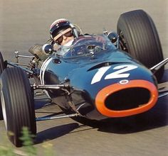 1965 - Jackie Stewart ( BRM at the Dutch Grand Prix, Zandvoort – Qualified: Along Side Dan Gurney – Finished: on the Lead Lap sec Behind the Winner, Jim Clark in His Lotus-Climax Sports Car Racing, F1 Racing, Drag Racing, F1 Lotus, Jackie Stewart, Classic Race Cars, Gilles Villeneuve, Derby Cars, Race Engines