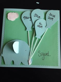 Som inspiration til en kage Cute Cards, Diy Cards, Baby Crafts, Diy And Crafts, Baby Barn, Baby Christening, Baby Scrapbook, Diy Baby, Creative Cards