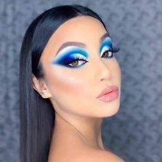 Makeup Eye Looks, Eye Makeup Art, Sexy Makeup, Smokey Eye Makeup, Eyebrow Makeup, Eyeshadow Makeup, Blue Eyeshadow, Makeup Eyes, Eyeshadows