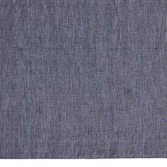 Blue Chambray Linen Crib Skirt