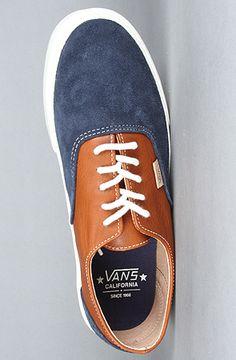 The Era Decon CA Sneaker in Dress Blues & Leather Brown