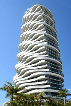 This is Wave skyscraper, located in the Gold Coast, Australia. Gold Coast is a coastal city in southeastern Queensland on the east coast of Australia. The city is 94 kilometres (58 mi) south of the state capital Brisbane.