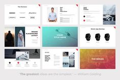 19 best minimal powerpoint templates images keynote template page