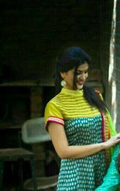 Latest Kurti neck designs - All About Chudidhar Designs, Chudi Neck Designs, Neck Designs For Suits, Dress Neck Designs, Stylish Dress Designs, Designs For Dresses, Salwar Neck Patterns, Neck Patterns For Kurtis, Salwar Neck Designs