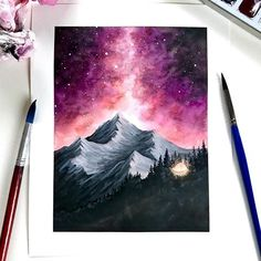 Amazing Art Painting - Here& a chart for your Friday! I wanted to work with warmer colors in Amazing Art Painting – Here& a chart for your Friday! I wanted to work with warmer colors in … Easy Watercolor, Watercolour Painting, Painting & Drawing, Diy Painting, Creative Painting Ideas, Hope Painting, Galaxy Painting, Drawing Drawing, Paint Ideas