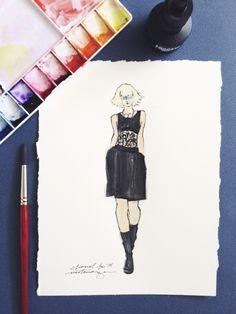 Victoria-Riza // Fashion Illustration // Chanel Spring 2014 RTW